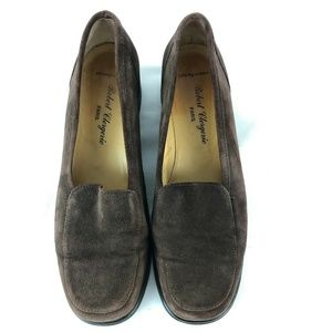 Robert Clergerie Paris Brown Suede Loafers